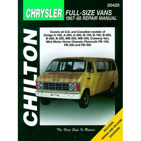Full-Size Vans 67-88 Revue Technique Haynes Chilton CHRYSLER Anglais