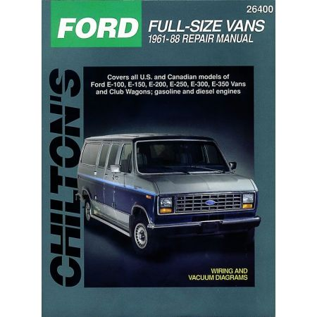 Full-Size E Vans 61-88 Revue Technique Haynes Chilton FORD Anglais