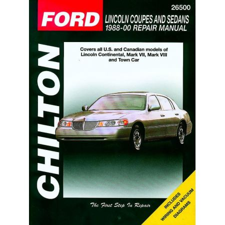 Coupes and Sedans 88-00 Revue Technique Haynes Chilton FORD LINCOLN Anglais