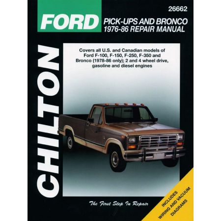 Pick-Ups F Bronco 76-86 Revue Technique Chilton FORD Anglais