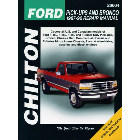 Pick-Ups F Bronco 87-96 Revue Technique Haynes Chilton FORD Anglais