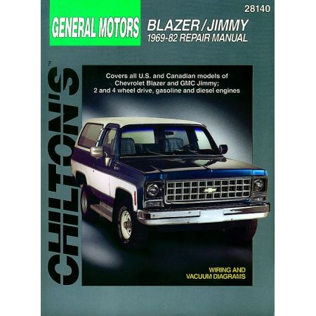 Blazer Jimmy 69-82 Revue Technique Haynes Chilton GMC CHEVROLET Anglais