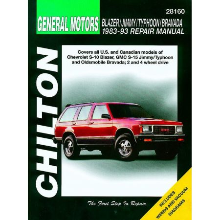 Blazer Jimmy Typhoon Bravada 83-93 Revue Technique Haynes Chilton GM Anglais
