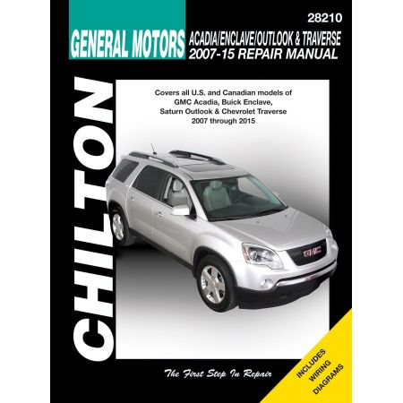 Acadia Enclave Outlook Traverse 07-13 Revue Technique Haynes Chilton GM Anglais