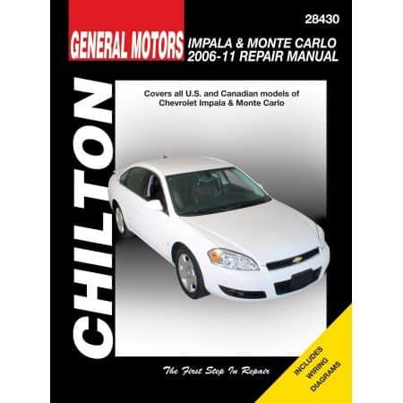 Impala Monte Carlo 06-08 evue Technique Haynes Chilton CHEVROLET Anglais