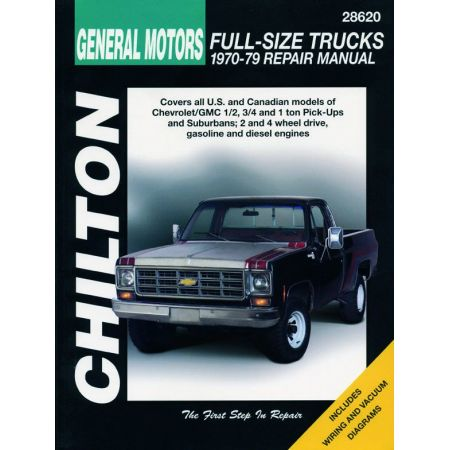 GMC 1 2 3 4 70-79 Revue Technique Haynes Chilton CHEVROLET GMC Anglais