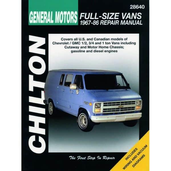 Full-Size Vans 67-86 Revue Technique Haynes Chilton CHEVROLET GMC Anglais