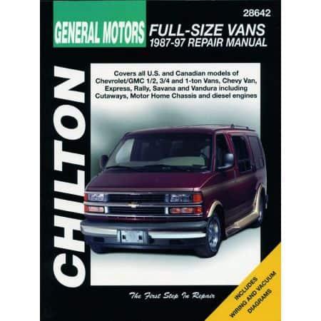 Full-Size Vans 1 2 3 4 87-97 Revue Technique Haynes ChiltonCHEVROLET GMC Anglais