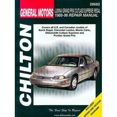 Regal Lumina Monte Carlo 88-96 Revue Technique Haynes Chilton GM Anglais