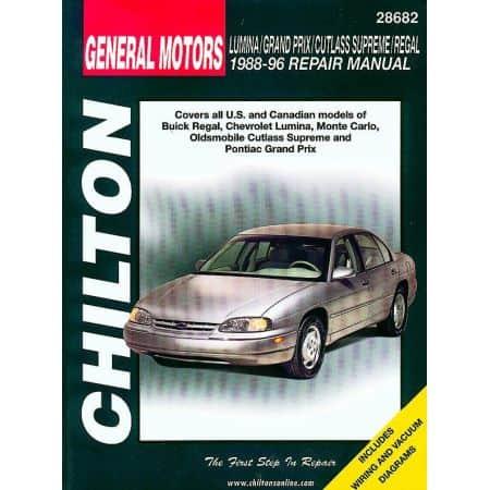 Regal Lumina Monte Carlo 88-96 Revue Haynes Chilton GM Anglais