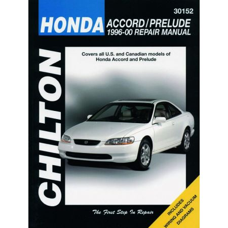 Accord Prelude 96-00 Revue technique Haynes Chilton Anglais