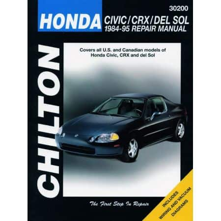 Civic CRX del Sol 84-95 Revue technique Haynes Chilton HONDA Anglais