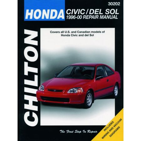 Civic del Sol 96-00 Revue technique Haynes Chilton HONDA Anglais