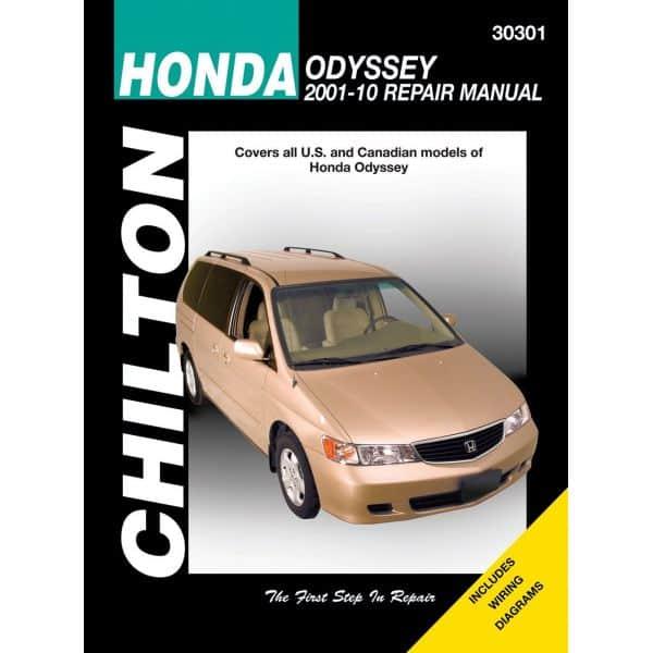 Odyssey 01-10 Revue technique Haynes Chilton HONDA Anglais