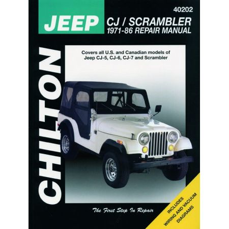 CJ Scrambler 71-86 Revue Technique Haynes Chilton JEEP Anglais