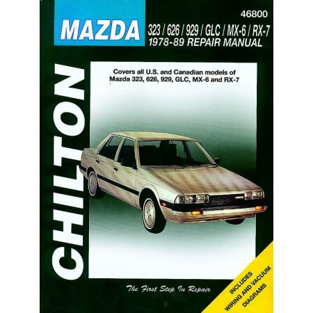 323 626 929 GLC MX-6 RX-7 78-89 Revue technique Haynes Chilton MAZDAAnglais