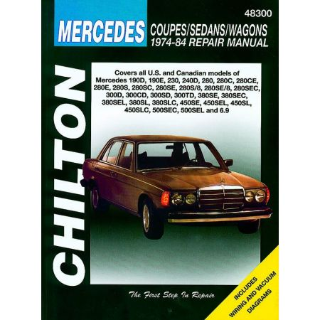 1 2 3 4 5 6.9 series 74-84 Revue Technique Haynes Chilton MERCEDES Anglais