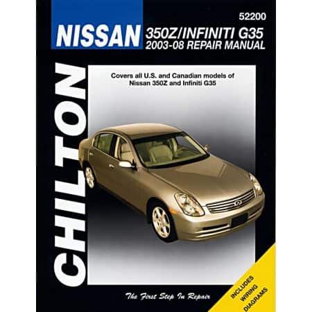350Z G35 03-08 Revue Technique Haynes Chilton NISSAN Anglais