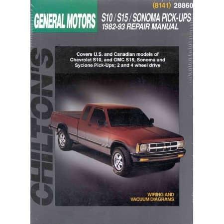 S10 S15 Sonoma Syclone 82-93 Revue Technique Haynes Chilton GM Anglais