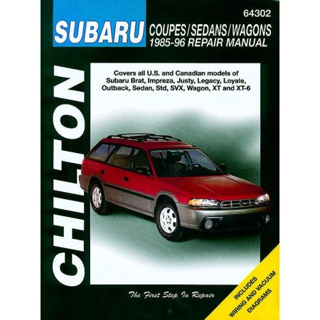 Brat Impreza Justy Legacy Loyale Outback Sedan 85-96 Revue Technique Haynes Chilton SUBARU Anglais