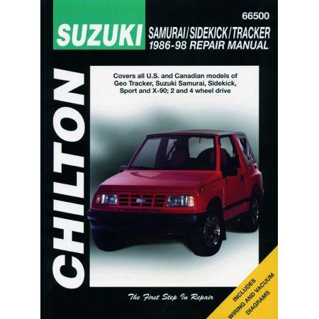 Samurai Sidekick Tracker 86-98 Revue Technique Haynes Chilton SUZUKI Anglais