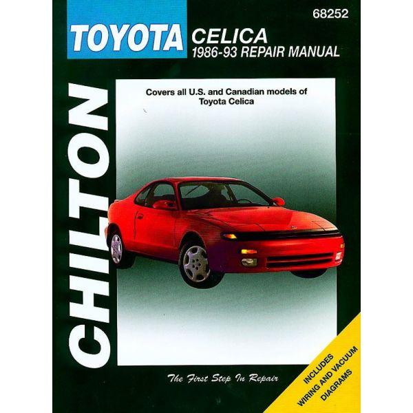 toyota celica 1986 1993 rthc68252 revue technique haynes chilton anglais. Black Bedroom Furniture Sets. Home Design Ideas