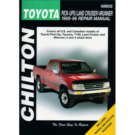Tacoma T100 Land Cruiser 4Runner 89-96 Revue Technique Haynes Chilton TOYOTA Anglais