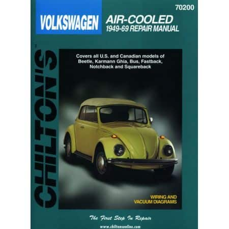 Beetle Karmann Ghia Bus 49-69 Revue Technique Haynes Chilton VW VOLKSWAGEN Anglais