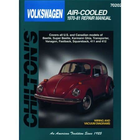 Air-Cooled Beetle Karmann Ghia 70-81 evue Technique Haynes Chilton VW Anglais