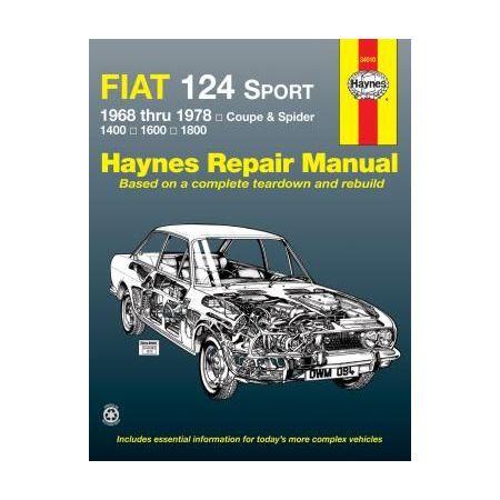 124 Sport Coupe & Spider 68-78 Revue technique Haynes FIAT Anglais
