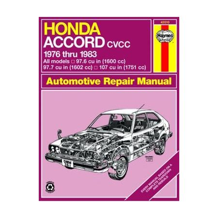 Accord CVCC 76-83 Revue technique Haynes HONDA Anglais