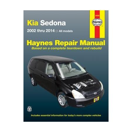Sedona 02-14 Revue technique Haynes KIA Anglais