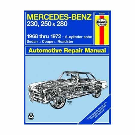 230, 250 & 280 for 230, 250 & 280 68-72 Revue technique Haynes MERCEDES Anglais