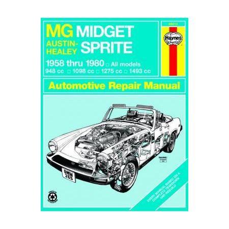 Midget -Sprite 58-80 Revue technique Haynes MG Anglais