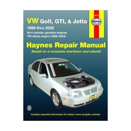 Golf, GTI, & Jetta 99-05 TDI diesel 99-04 Revue technique Haynes VW Anglais