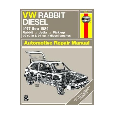Rabbit, Jetta & Pick-up diesel 77-84 Revue technique Haynes VW Anglais