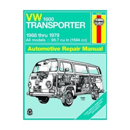 1600 Transporter 68-79 Revue technique Haynes VW Anglais