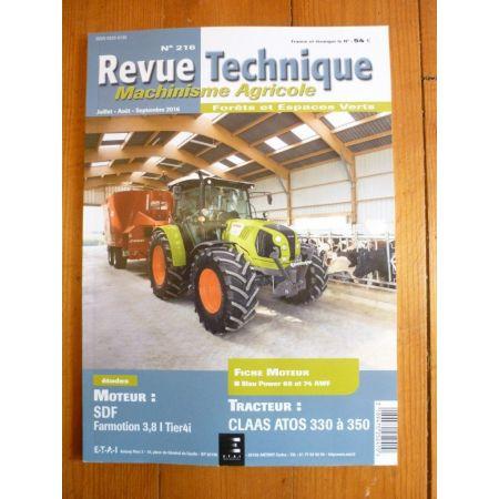 ATOS 330-350 Revue Technique Agricole CLAAS