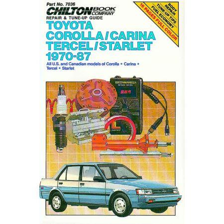 Corolla Starlet 70-87 Revue technique Haynes Chilton TOYOTA Anglais