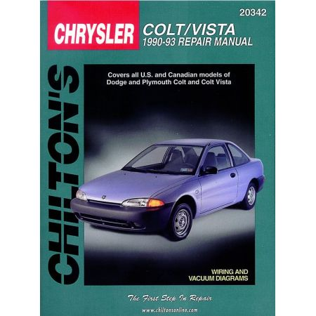 Colt Vista 90-93 Revue technique Haynes Chilton CHRYSLER Anglais