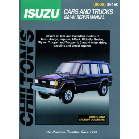 All Models 81-91 Revue technique Haynes Chilton ISUZU Anglais
