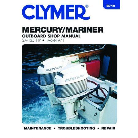 3.9-135 HP 64-71 Revue technique Haynes Clymer MERCURY Anglais