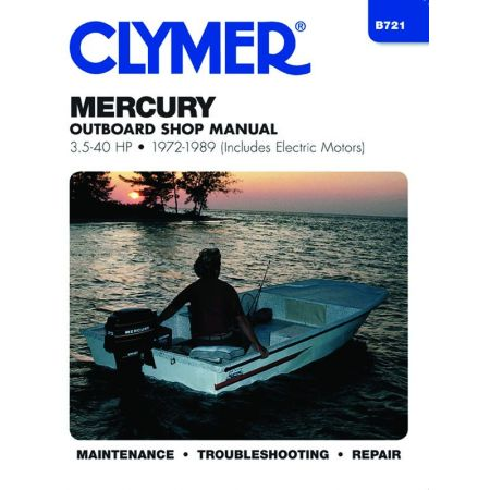 3.5-40 HP 72-89 Revue technique Haynes Clymer MERCURY Anglais