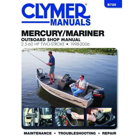 2.5-60 HP 98-06 Revue technique Haynes Clymer MERCURY Anglais