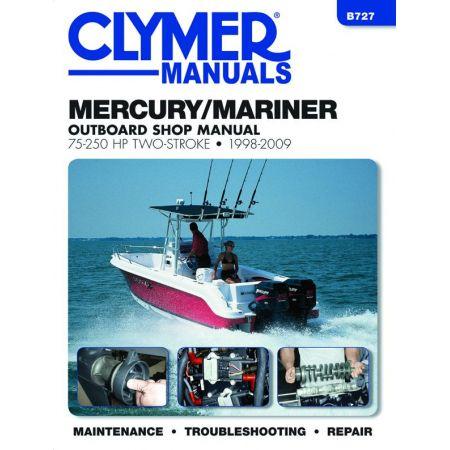 75-250 HP 98-09 Revue technique Haynes Clymer MERCURY Anglais