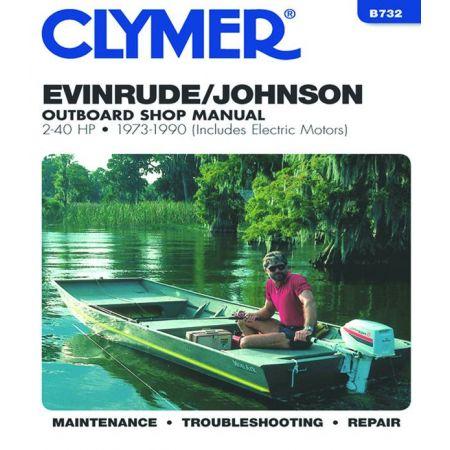 2.40 HP 73-90 Revue technique Haynes Clymer EVINRUDE Anglais