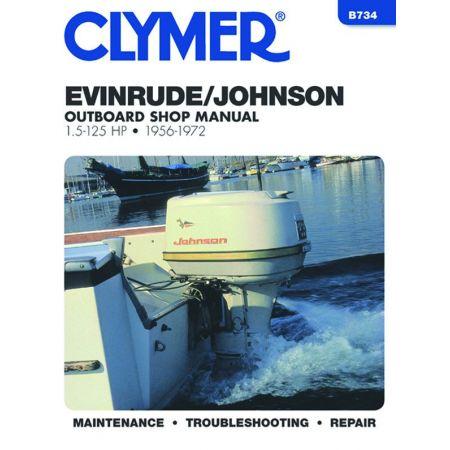 5-125 HP 56-72 Revue technique Haynes Clymer EVINRUDE Anglais