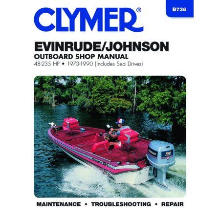 48-235 HP 73-90 Revue technique Haynes Clymer EVINRUDE Anglais