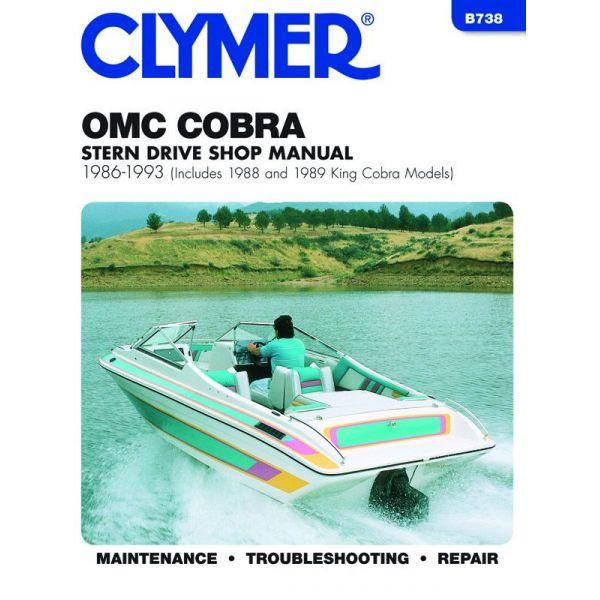 Cobra Stern 86-93 Revue technique Haynes Clymer OMC Anglais
