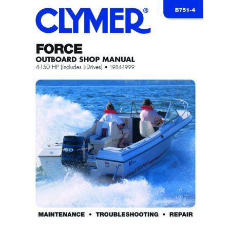 Force 4-150 HP 84-99 Revue technique Haynes Clymer MERCURY Anglais